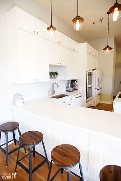 New Ice White kitchen cabinets from CabinetGiant.com