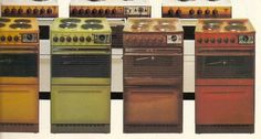 That brown cooker (2nd from right) looks kind of familiar, so it could be what we had in my childhood home.. (Should anyone want to use Google Translate on the blog behind the link, the language is Finnish..)