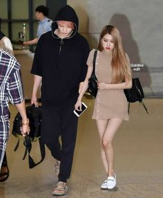 😍❤ Kpop Couples, Cute Couples, Bts Girlfriends, K Pop, Baby Chipmunk, Ariana Grande Fragrance, Blackpink And Bts, Bae Suzy, Together Forever