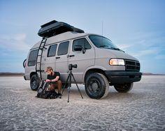 Travis Burke - 1994 Dodge Ram Van - An adventure car to die for Dodge Camper Van, Dodge Ram Van, Truck Camper, Lifted Dodge, Mini Camper, Camper Life, Adventure Car, Van Camping, Camping Gear