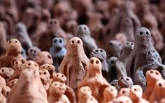 Antony Gormley, I really like how these little figures are so expressive. The eyes, the look on their face is really matter - even if it's stylized.