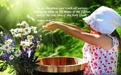 """** Matthew 28:19 - """"Go ye therefore, and teach all nations, baptizing them in the name of the Father, and of the Son, and of the Holy Ghost."""" **"""