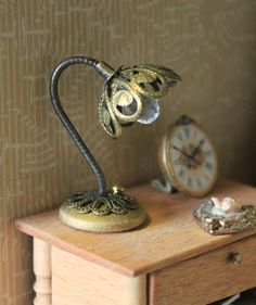 Inspiration for using jewellery findings to create lamps