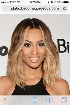 Love Ciara's hair color! Going to try this next spring.