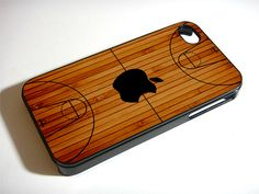 Basketball Court Wood iPhone 5S 5 4S 4 Samsung Galaxy Note 3 S4 S3 Mini Case