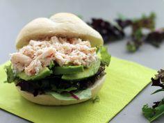 Lunchen met krabsalade