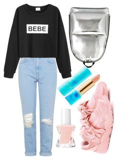 """""""school look"""" by altrisa-mulla ❤ liked on Polyvore featuring Topshop, WithChic, Puma, 3.1 Phillip Lim, tarte and Essie"""