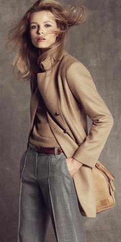 "khaki and grey ✮✮Feel free to share on Pinterest"" ♥ღ www.MYEXTRASHOES.com"