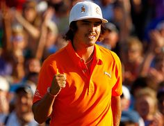In the final round of the 2012 Wells Fargo Championship, Rickie Fowler wins on the first hole of a sudden-death playoff over Rory McIlroy and D.A. Points to claim his first victory on the PGA TOUR.
