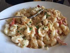 Want more lobster? Another great lobster dish at Henlopen City Oyster House in Rehoboth Beach is the lobster mac and cheese ($26), shell pasta blended with Gouda, white cheddar and cognac. It's topped with brown butter breadcrumbs and chopped chives. (Photo: Patricia Talorico/The News Journal)