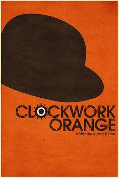 A Clockwork Orange (1971) ~ Minimal Movie Poster by Christian Frarey