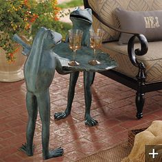 Conversational Frog Tray Table