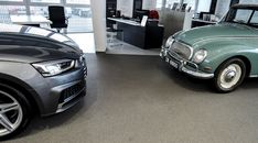 New vs Old. Past meets Present. The Audi goes head to head with the new Audi sportback. Audi A3 Sportback, Showroom, Pictures, Photos, Fashion Showroom, Resim, Clip Art