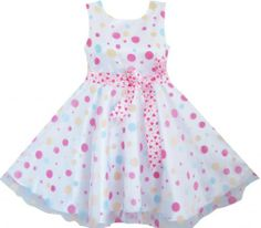 DD42 3 Layers Girls Dress Colorful Dot Pink Belt Pageant Sundress Size 6 Sunny Fashion,http://www.amazon.com/dp/B00CNFRYDG/ref=cm_sw_r_pi_dp_iVfDsb03XFC4YMN5