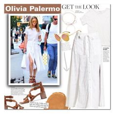 """""""Olivia Palermo"""" by mery90 ❤ liked on Polyvore featuring Jérôme Dreyfuss, Madewell, Victoria Beckham, GetTheLook, StreetStyle, OliviaPalermo and CelebrityStyle"""