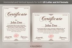 10 Great Looking Certificate Templates for All Occasions ~ Creative Market Blog