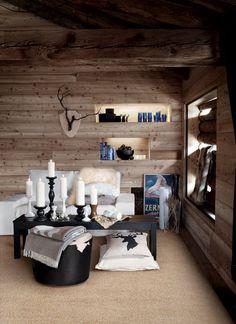 Waan je in de Alpen met Ikea Chalet Design, Chalet Chic, Chalet Style, Chalet Interior, Interior And Exterior, Ikea Decor, Furniture Decor, Log Cabin Living, Tiny Living
