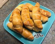 Καταπληκτικά κρουασάν με φέτα, λουκούμι, σοκολάτα, μαρμελάδα Hot Dog Buns, Hot Dogs, Bread, Food, Brot, Essen, Baking, Meals, Breads