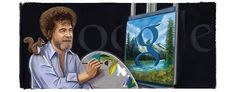 """Today marks the 70th Birthday of a passed painter, Bob Ross. He painter was famous for a 10yr long TV show on PBS named """"The Joy of Painting"""". This show instructed people on how to create oil paintings. He was a great painter and google is celebrating his work with a google doodle. His paintings always related to scenery and nature. Something of which today seems to be the focus of most painters. Nature serves as inspiration for many and Bob Ross is a great representation of this. Miriam M."""