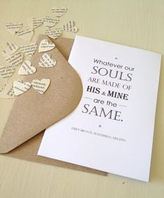 Wuthering Heights Love Quote Card by LiteraryEmporium on Etsy, $4.80