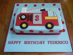 Fire Engine Cake by Susie 99, via Flickr