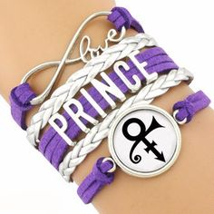 """Limited Quantity Available! Prince Bracelet ~ In Honor Of A Legend Gone Too Soon! 7"""" + 1 1/2"""" Extended Chain with Lobster Claw Clasp. Material (Purple Bracelets): Zinc Alloy Charms, Faux Leather Braid"""