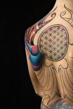 Geometric tattoo #tattoo