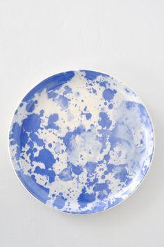 Koromiko Watercolor Plate - Blue by Bonnie Ashley