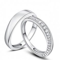Designer Couples His and Her Wedding Bands on sale