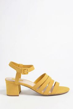 Product Name:Faux Suede Block Heel Sandals, Category:Shoes, Price:24.9