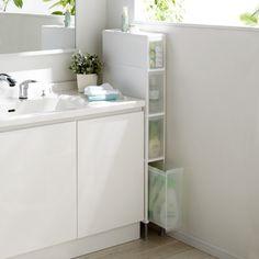 段差がまたげる隙間収納 アジャスター付きストッカー ミドル浅1中3深1 幅17高さ133cm わずかなすき間にもぴったり収まります。※幅14cmタイプです Cool Room Decor, Bathtub, House Design, Cool Stuff, Bathroom, Home, Standing Bath, Washroom, Bathtubs
