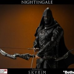 This Skyrim Nightingale statue has 100 points in Awesome -  Say what you will about the Daedric Princes of The Elder Scrolls games, but some of them have a keen eye for fashion. Case in point: Nocturnal, lady of night and darkness, clads