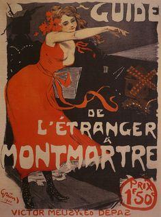 1900 Etranger Montmartre Theater Show in Paris France Art Nouveau, Theatre Shows, Beautiful Book Covers, Music Magazines, Paris Shows, Vintage Paris, Modern Artists, Lettering, Typography
