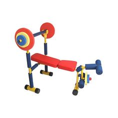 Weight Bench Set for toddlers and kids by Redmon. Children can exercise like mom and dad. Home baby gym equipment just like grown up stuff (diy Gymboree gym!)-not buying it but I would so love to have it in my child care! Little Girl Toys, Toys For Girls, Kids Toys, Kids Gym Equipment, No Equipment Workout, Fitness Equipment, Weight Bench Set, Weight Set, Weight Loss