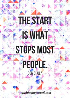 """The start is what s"