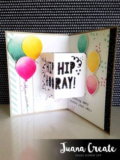 Juan Ambida Independent Stampin' Up!® Demonstrator Australia: Party with Cake Pop up Birthday card