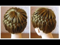 Tuto coiffure tresse serre-tête ♛ Tresse couronne cheveux mi longs ♛ Crown Braid - YouTube