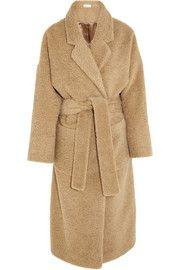 Isa ArfenOversized brushed alpaca and mohair-blend coat
