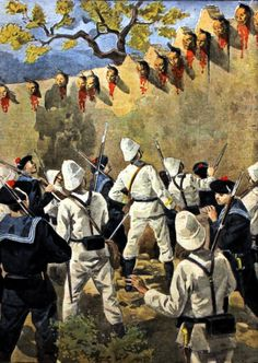 Executed heads of the Chinese Boxer rebels, Boxer's Rebellion, China
