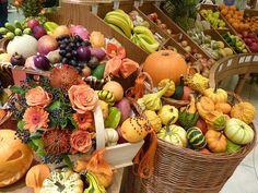 Fruit display at Fortnum & Mason in London