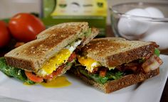 We're taking the BLT to the next level with a BLTG&E! Watch this quick how-to video and see how Chef Nathan Lippy adds Wholly Guacamole® Classic Dip and a fr. Wholly Guacamole, Fat Flush, Egg Sandwiches, Guacamole Recipe, Food Videos, Recipe Videos, Kitchen Recipes, Dinner Tonight, Entrees