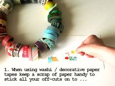 How To: turn scraps of washi into crazy-quilt style embellishments [photo tutorial] Love it!