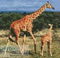Mini Giraffes Cross Stitch Pattern http://www.artecyshop.com/index.php?main_page=product_info&cPath=11_12&products_id=60