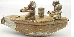 egyptian funerary boat...664 - 250 bc.