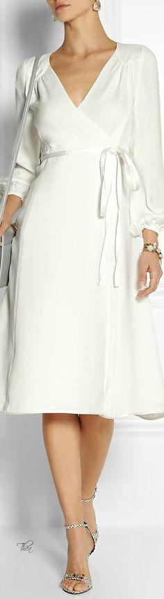 Marc Jacobs ● Silk-crepe wrap dress