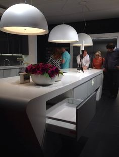 Blum inside @ Grand Designs London Live with Diane Berry Kitchens London Live, Grand Designs, Berry, Kitchens, Vanity, Furniture, Home Decor, Dressing Tables, Powder Room