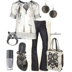 """Pretty Peasant Blouse"" by cynthia335 on Polyvore"