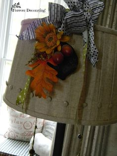 I like these shades. You can change out the decor for each season.Forever Decorating!: Fall Decor in Close-up ~ Part 2