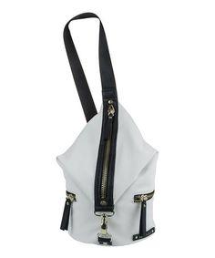 Look at this #zulilyfind! Chalk & Black Bondi Girl Sling Crossbody Bag #zulilyfinds