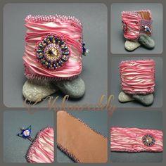 Shibori silk cuff bracelet nfs